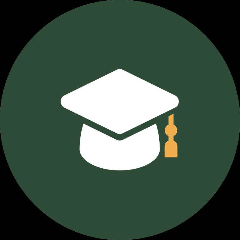 Green symbol with cap